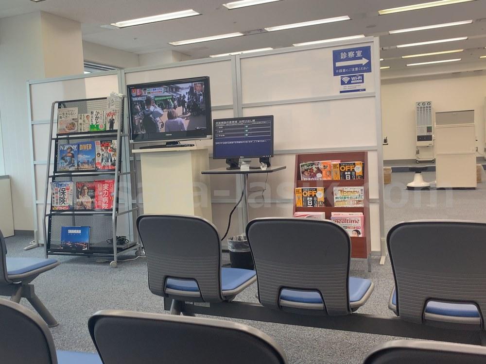 神戸神奈川アイクリニックの待合室
