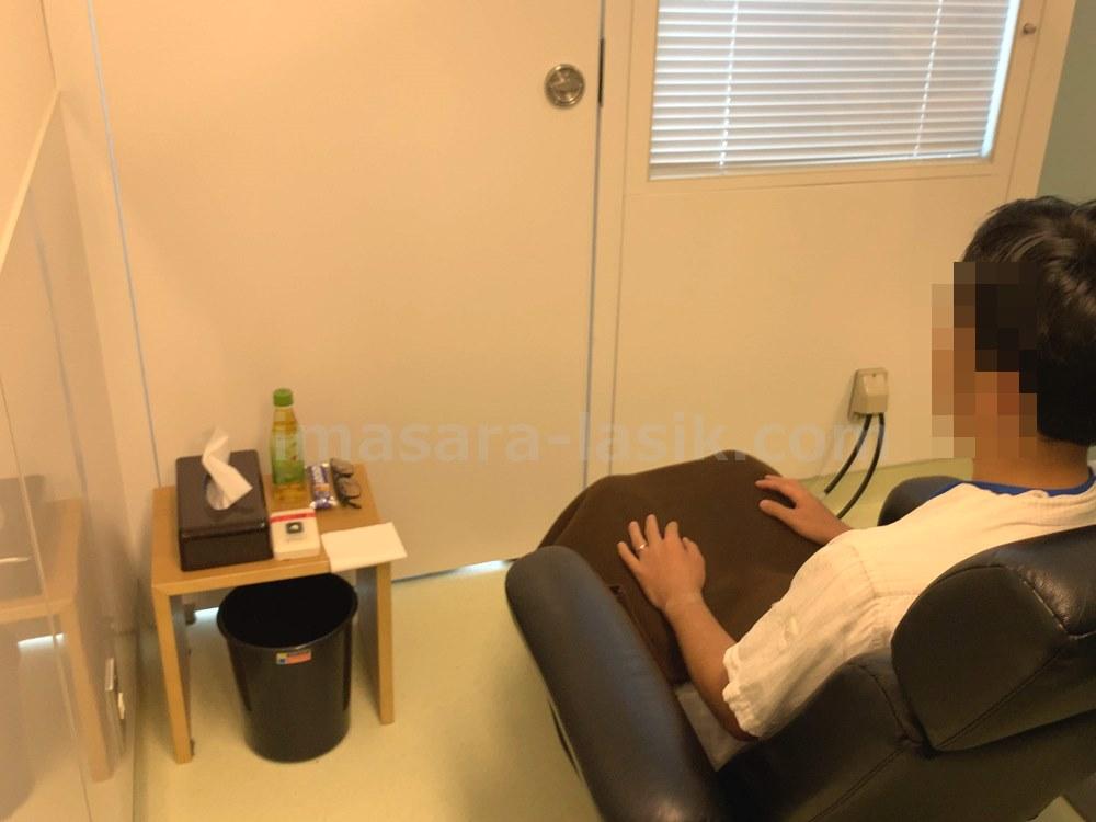 回復室で休憩